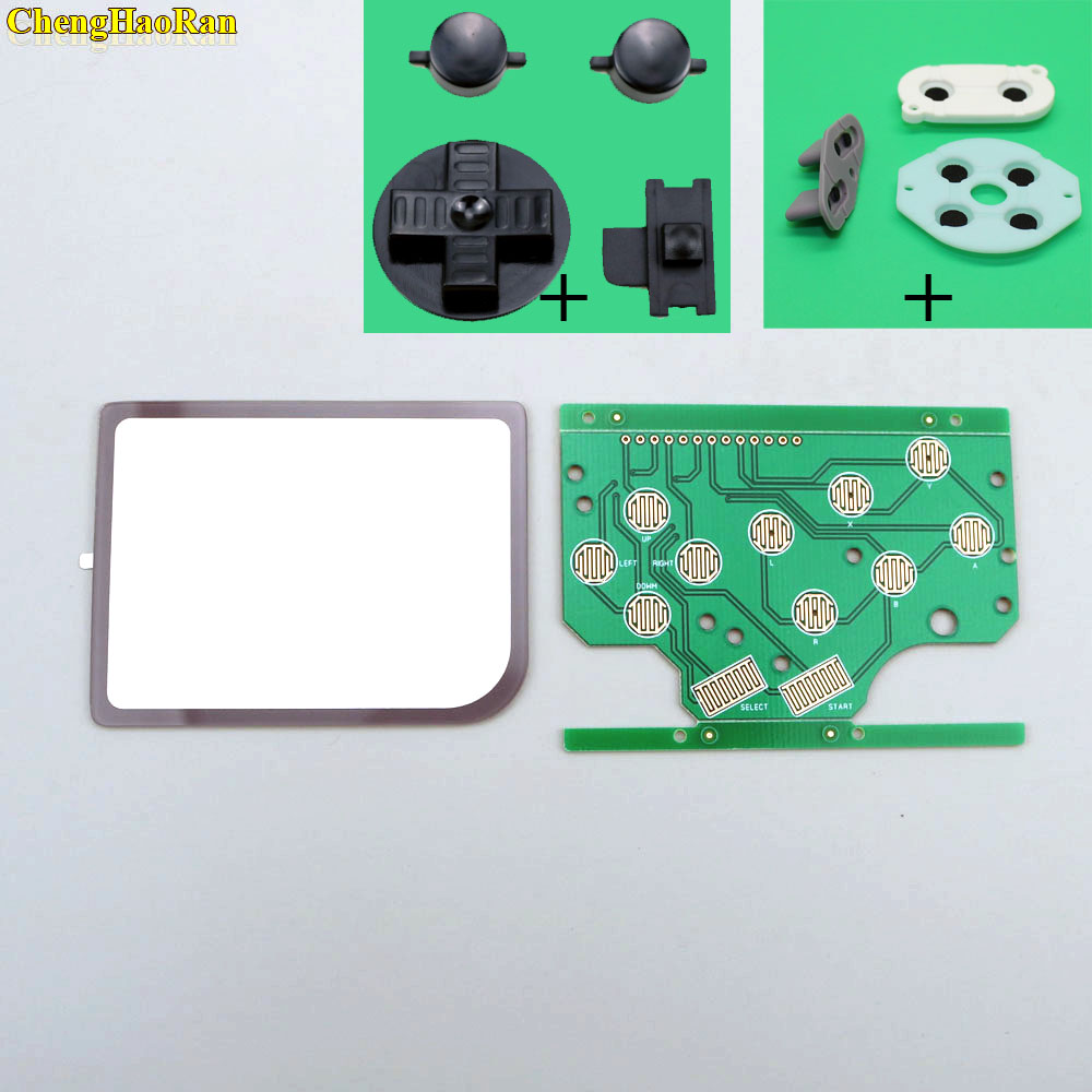 Image 2 - For DMG GB Plastic A B Button Silicon D pad Select Start Rubber Button For Raspberry Pi Zero PCB Board & Lens Protector-in Replacement Parts & Accessories from Consumer Electronics