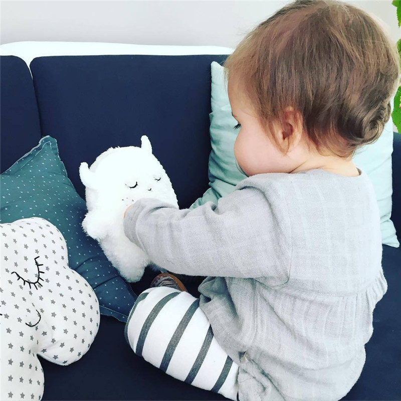 Ins Plush Stuffed Animals Shape Pillow Cushion Cute Angel Rabbit Little Monster Plush Dolls Baby Pacify Toys Kids Gifts Decor