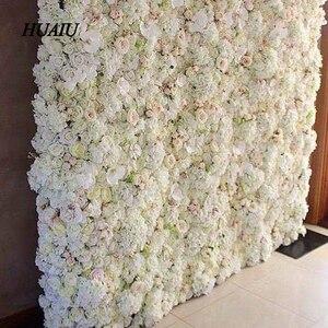 Искусственные цветы на стену 60*40 см, роза, Гортензия, цветы, свадебные цветы, домашние вечерние свадебные украшения, аксессуары