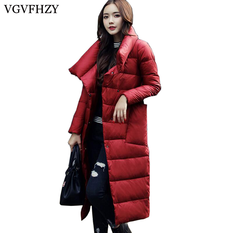 Down   Jacket Women 2017 Luxury Womens   Down   Jacket Solid Casual Loose 90% White Duck   Down     Coat   Warm Oversized Female Jacket LY636