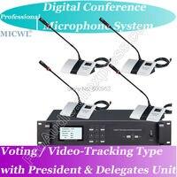 Pro голосование видео отслеживания телеконференции 1 президент 35 делегата проводной цифровой микрофон встреча Системы