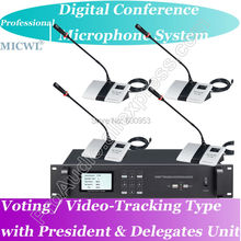 Pro Voting Video-tracking Teleconference 1 President 35 Delegate Wired Digital Meeting Microphone System voting software for mass elections