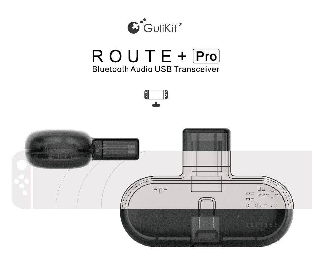 Gulikit Route Pro Bluetooth Transmitter Wireless Audio Usb C Adapter Or Receiver With Voice Transmission For