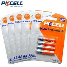5 بطاقة/20 قطعة PKCELL النيكل والزنك 1.6V 900mWh AAA بطاريات قابلة للشحن البطارية