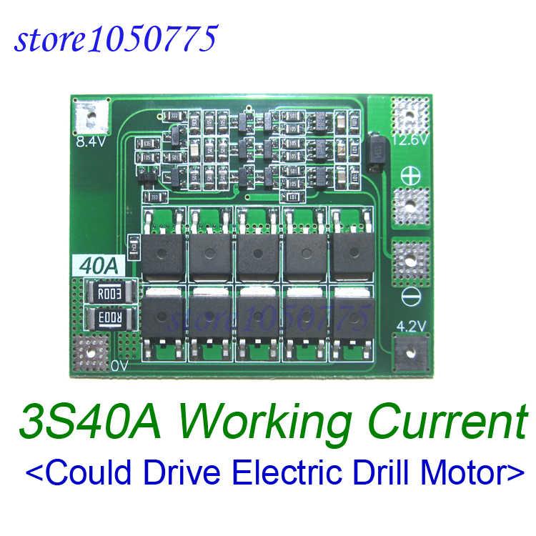 3S40A Li-ion ładowarka akumulatorów litowych ochrona BMS Board napęd silnik do wiertarki 11.1V 12.6V moduł z równowagą wyrównane ładowanie