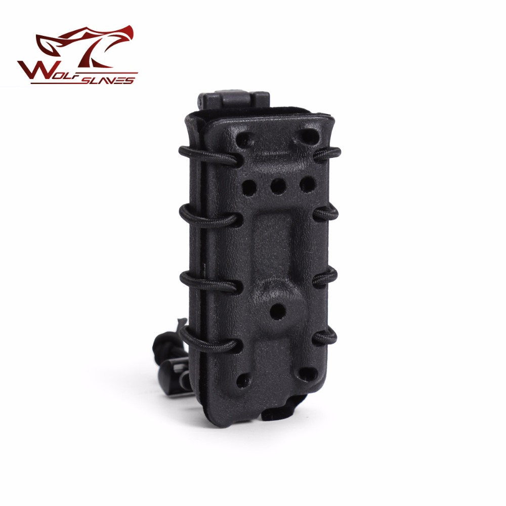 9mm Tactical Magazine Pouch MOLLE Military Pistol Rifle Mag Carrier Case Belt Clip Holster Hunting Accessories