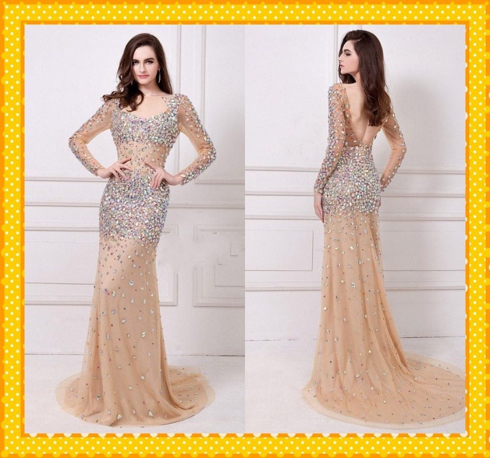 Prom Dresses Seattle Cream Extravagant Long Dress Cheep Sheath Floor ...