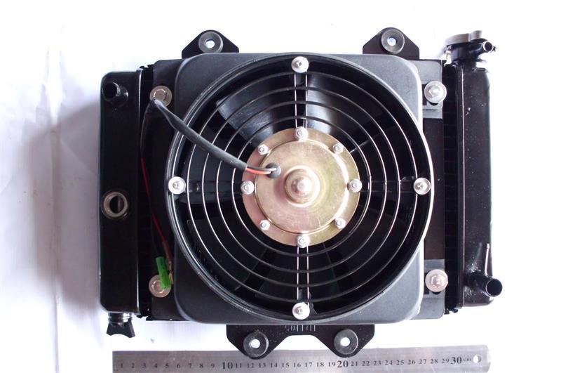 все цены на  VTT ATV 250cc 200CC engine Water cooling Radiator cooler & 12v FAN FOR go kart karting quad 4x4 ATV UTV bike cf moto parts  онлайн