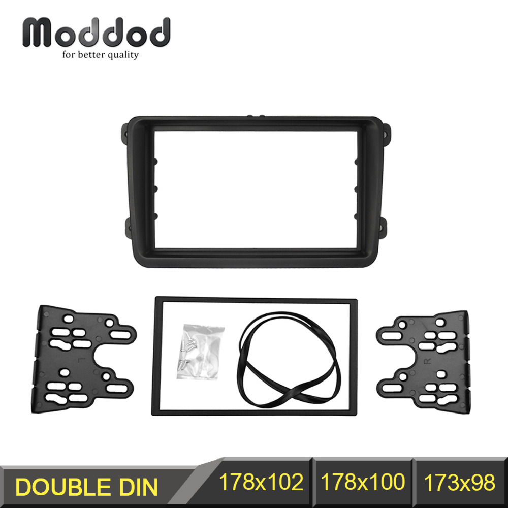 Radio Fascia Panel for VW Touran Caddy Jetta Golf Passat SKODA Fabia Octavia Seat Leon Stereo Trim Kit DVD Frame наклейки vw volkswagen passat touran seat ibiza skoda octavia fabia 3