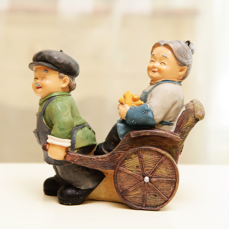 Elderly Grandpas Home Decorations Ornaments Creative Gifts Figures Parlor Crafts Wedding Gift In Figurines Miniatures From Garden On