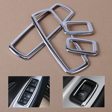 DWCX 4x Car Styling Chrome Interior Window Switch Trims Cover For Jeep Grand Cherokee Chrysler 300 Dodge journey 2011 -2013 2014