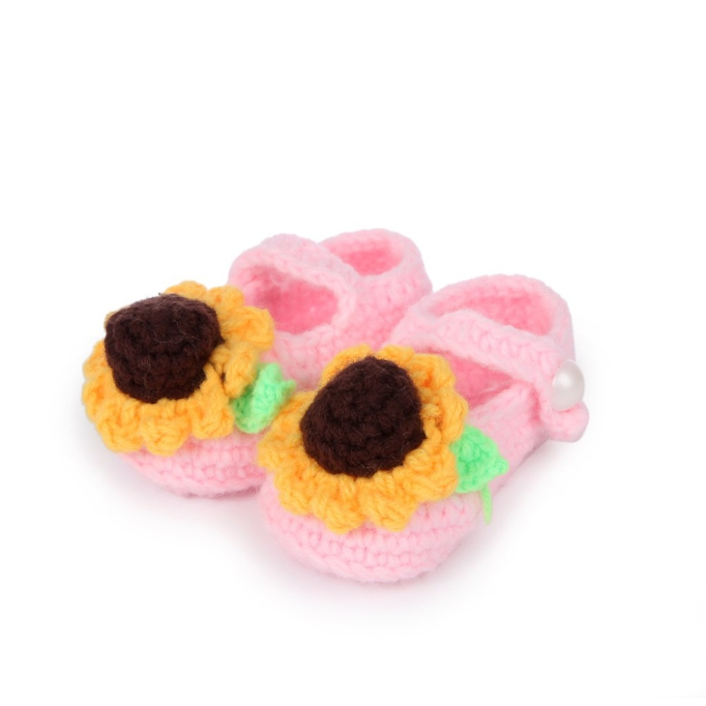 Cute-sunflower-design-Handmade-Knit-baby-knitting-Woolen-Sock-Shoes-baby-photography-props-5BS46-2