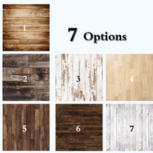 Dark Brown Wood Floor Photography Backdrops Newborn Photo Booth Backgrounds for Photographers Studio Vinyl Photophone Floors 711(China)