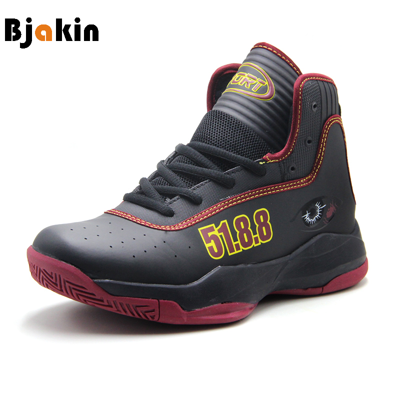 Bjakin High Top Basketball Shoes Men 2018 Outdoor Basketball Boots With Eyes Pattern Quality Basket Homme Male Plus Size 47