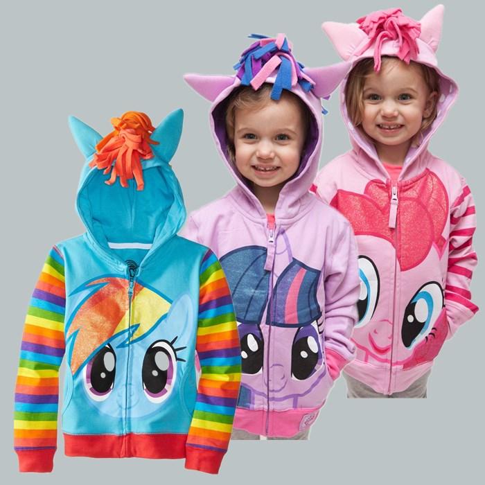 Hot retail brand children's outerwear, boys girls clothing coat little pony jackets, my Kids boy's coat avengers Hoodies/sweater