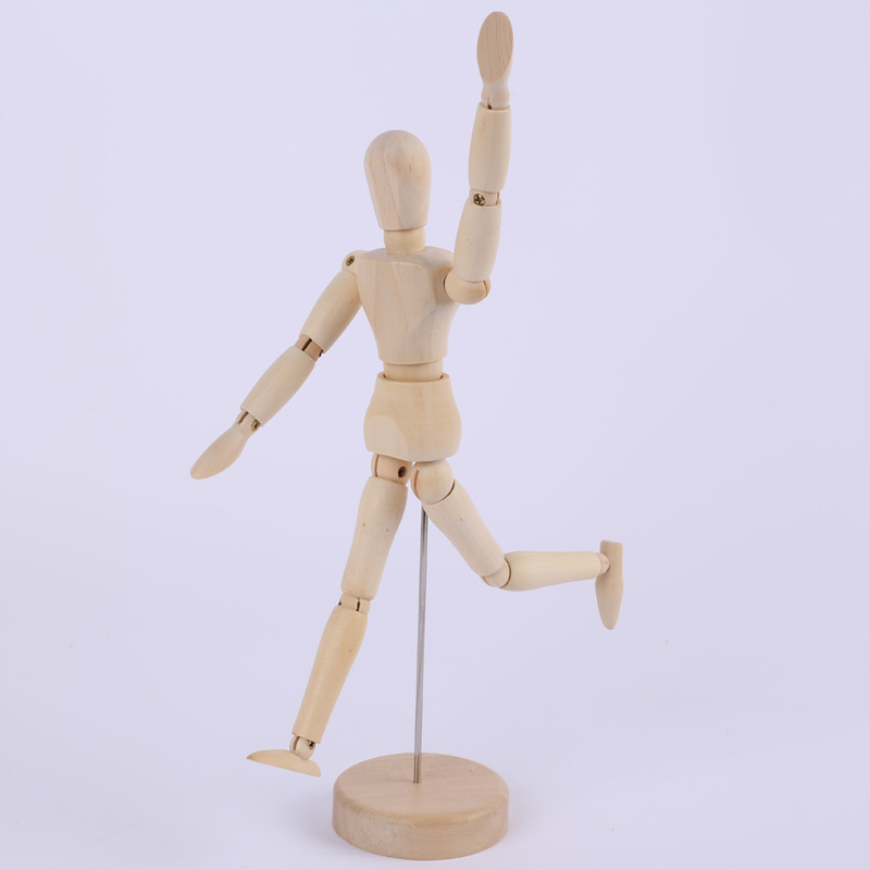 12 Inch 30cm Wood Human Body Model Figure Manikin Mannequin Artist Drawing Sketch Office School Supplies Wooden Human Body