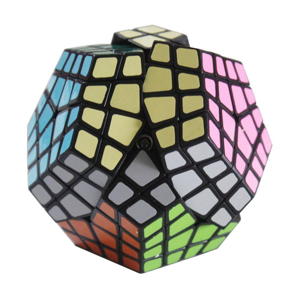 YKLWorld Date Maître-Kilominx Puzzle Magic Cube Défi Supplémentaire Printemps Puzzle Cubo Magico Éducation Apprentissage Jouet Noir (W0