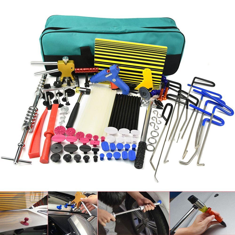 PDR Rods Dent Puller Hail Damage Repair Car Dent Removal Paintless Dent Repair Tools Kit hail damage repair kit removal of hail dents and door ding professional pdr rod paintless dent remover tools kit b7911c123456