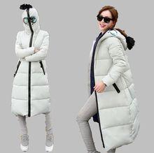 2016 Winter New Large Size Women Coat Fashion Altman Modeling glasses Slim Hooded Down Cotton Padded Coat Warm Parka Women G1856