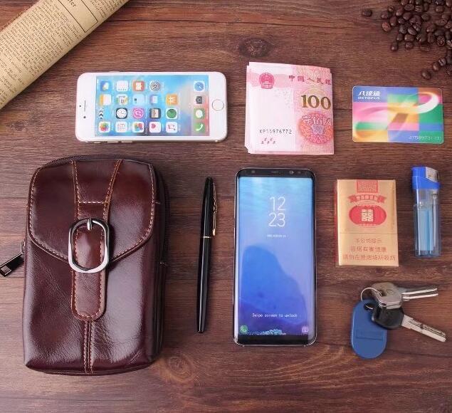 Belt Clip Man Genuine Cow Leather Mobile Phone Case Pouch For Xiaomi Mi A1 Redmi Y1