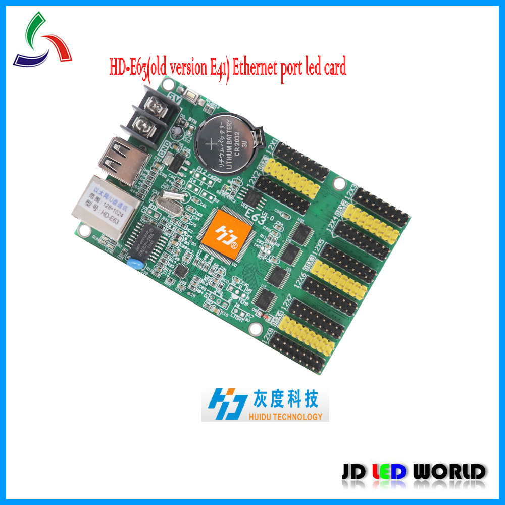 E63 Hd E63replace Old Version E41 Single And Dual Color Tri Led Wiring Of A Sign Card Huidu Controller In Displays From Electronic
