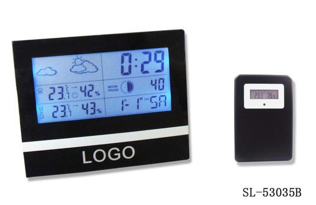 2014 good gift digital Indoor Outdoor Weather Station clock, Wireless Thermometer Backlight clock /wholesale