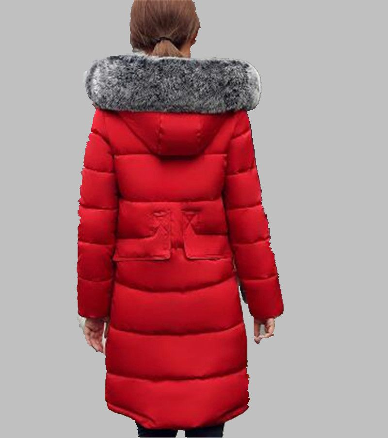 2016 Winter Latest Fashion Women Hooded heavy Hair collar Down jacket Leisure Pure color Super Keep