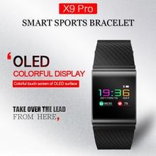 Новый Цвет OLED умный Браслет Приборы для измерения артериального давления сердечного ритма Мониторы Bluetooth SmartBand предупреждение Smart Band Фитнес трекер активности
