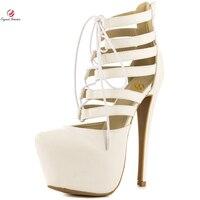 Original Intention Sexy Women Sandals Fashion Round Toe Nice Thin High Heels Sandals Elegant Beige Shoes