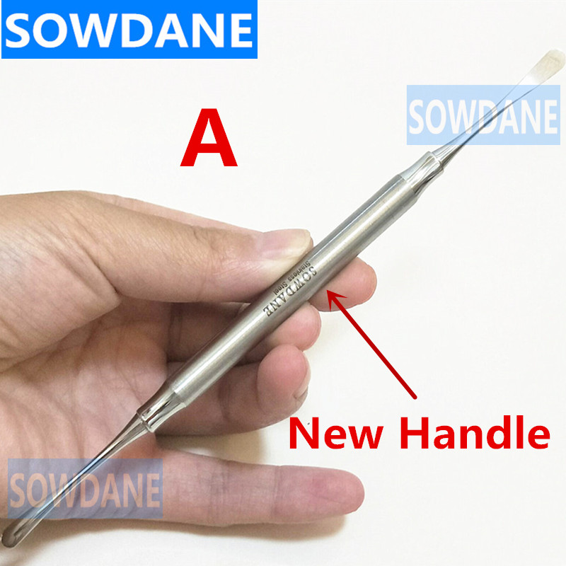 Double Ends Dental Periosteal Elevator Tool for Retracting Splitter Seperator Oral Care Stianless Steel 3