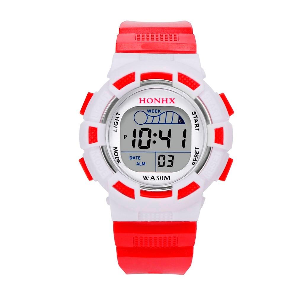 Honhx Erkek Kol Saati Watch Boy Fashion Casual Waterproof Watches Boys Digital Led Sports Watch Kids Alarm Date Watch Gift 50 Digital Watches Men's Watches