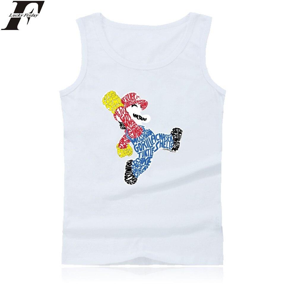 Funny Super MarioRun Tank Tops Men Workout Tank Top New Cartoon Sleeveless Tops Tee Shirts Clothing
