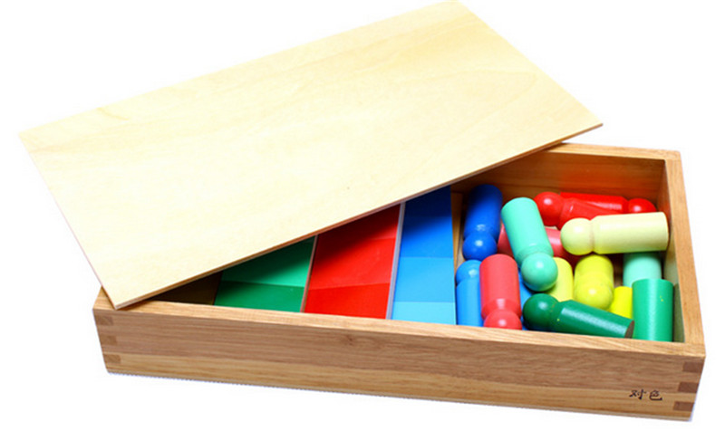 Nouveau bois bébé jouets famille Version Montessori couleur ressemblance tri tâche bois petite enfance préscolaire enfants bébé cadeaux - 2