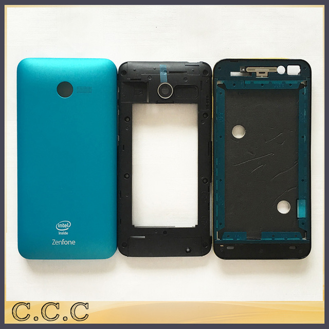 Original new full complete housing for Asus zenfone 4 A400CG battery cover back case + middle + frame front plate