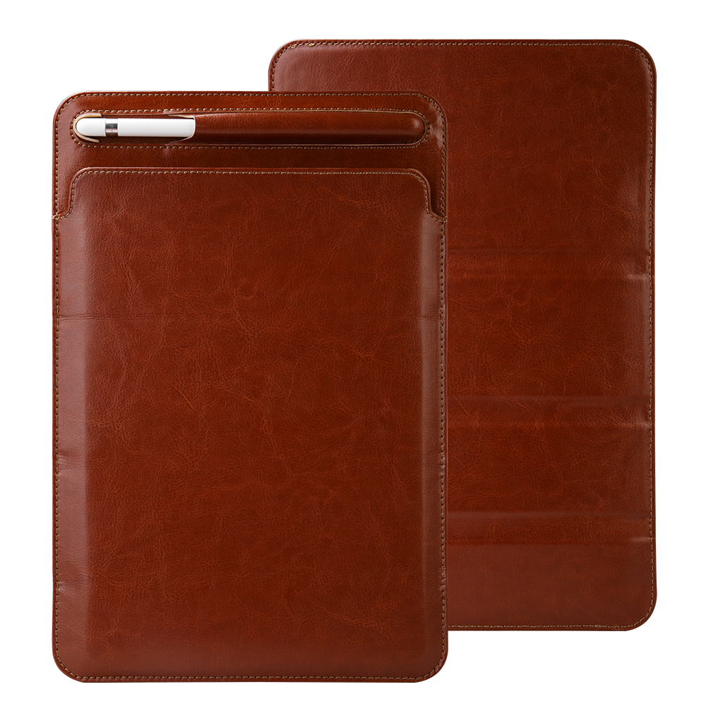 Luxury Leather Sleeve Pouch for iPad Pro 10.5 2017 Case High Quality Sleeve Bag with Pencil Holder Slot for iPad pro 9.7 Cover high quality 10 25 4cm colorful hard netbook laptop sleeve case bag for ipad 2 3 4 5 6 sleeve bag