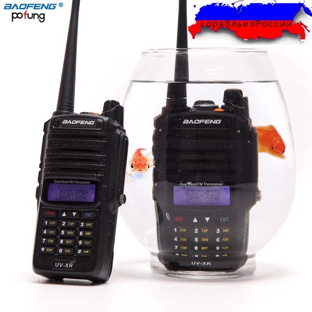 Baofeng UV XR Waterproof IP67 Walkie Talkie 10W 4800mAh Battery 10KM Long Range Powerful Portable Two Way Radio up of uv 9r uv9r