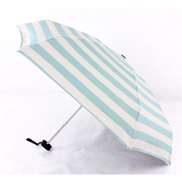 Cô Gái ngọt ngào Hải Quân Streak Chống UV Sun/Rain Công Chúa Phụ Nữ Gấp Umbrella 5 Colors Parasol Guarda Chuva Ladies Mưa
