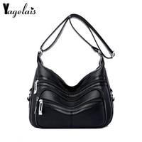 Yagelais 2019 New Soft Crossbody Bags For Women Pu Leather Handbags Designer Women Shoulder Bags Many Pocket Big Crossbody Bags