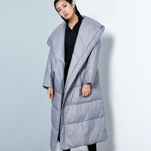 BC051 New Arrival 2016 casual hooded women winter coat thick warm white duck down jacket long