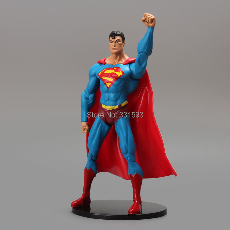 DC Comics Super Heroes Superman PVC Action Figure Collectible Model Toy Gift For Children 7 18CM Free Shipping 26cm crazy toys 16th super hero wolverine pvc action figure collectible model toy christmas gift halloween gift