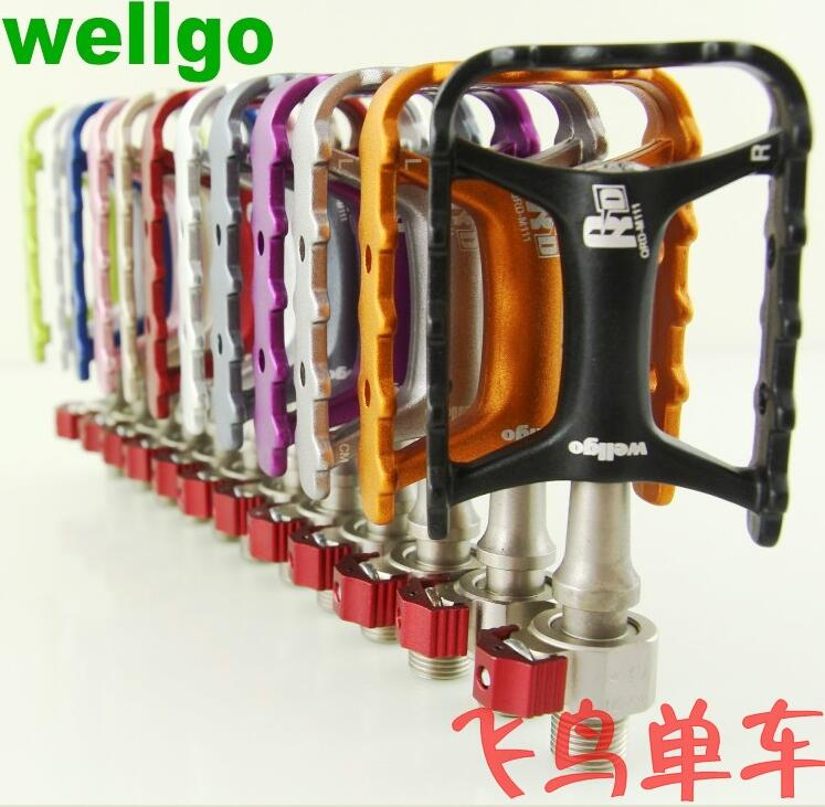 Original Brand Wellgo M111 Pedal QRD-M111 Ultra light quick release bmx MTB Pedals High quality bike parts pegs