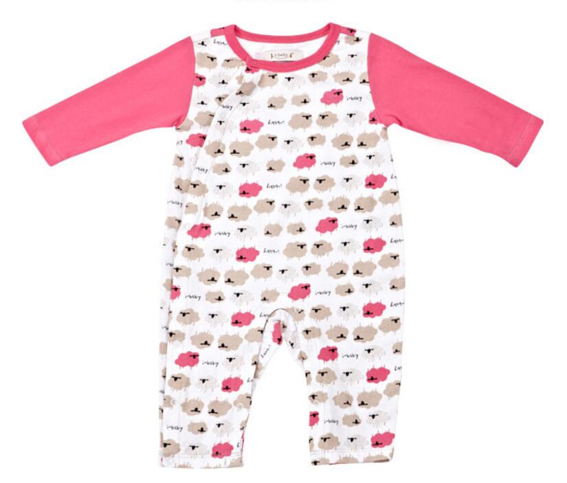 2017 Summer Newborn Infant Baby Romper Clothes Boy Girl Rompers 100% Cotton Long Sleeve Romper Jumpsuits Clothing Pink 0-3M new arrival newborn baby boy clothes long sleeve baby boys girl romper cotton infant baby rompers jumpsuits baby clothing set