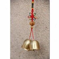 Creative תליות פעמוני פליז חיקוי עתיק פעמון המשמח סיני קשר 2 חנות בית תפאורה מתנות של מאהב חתול מזל