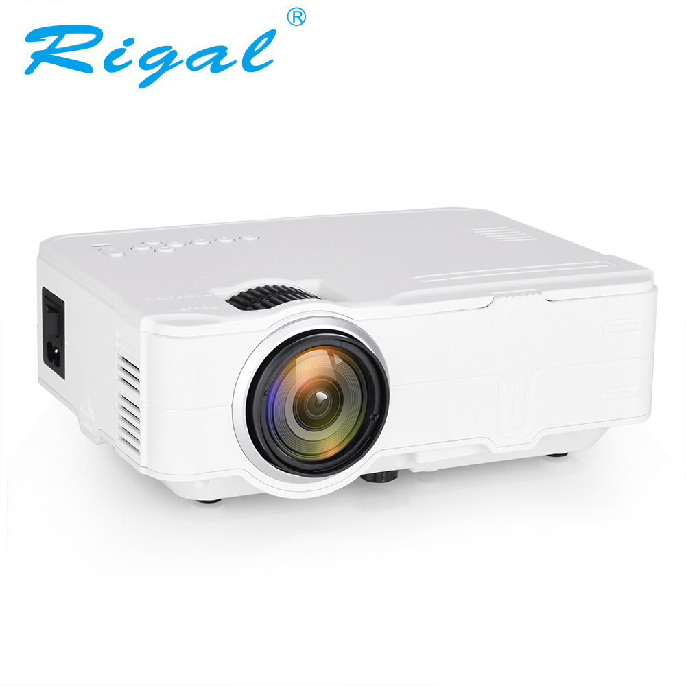 Rigal RD812 Mini LED Projector WiFi Wireless Wired Sync Display LCD 3D Projector Multi Screen HDMI VGA USB Video Home Theater poner saund dlp100w pocket hd portable dlp projector micro wireless multi screen mini led battery hdmi usb portable home cinema