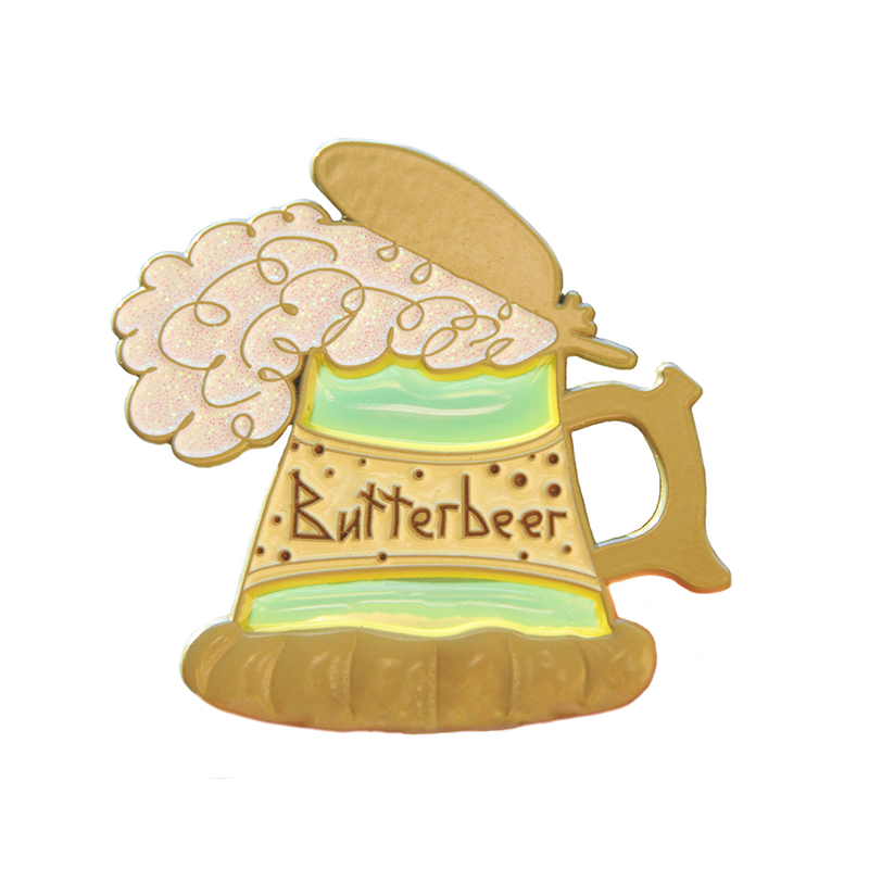 Butter beer see-through enamel pin
