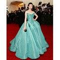 Verde elegante Red Carpet Celebrity Dresses Custom Made Strapless Drapeado Backless vestido de Baile Vestidos de Noite Formal