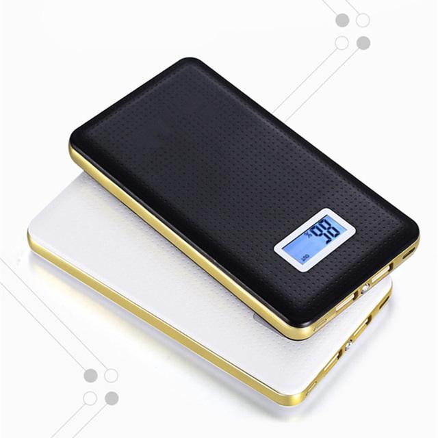 Nueva pantalla lcd portátil banco de la energía 10000 mah dual usb batería de reserva externa powerbank para iphone móvil cargador universal