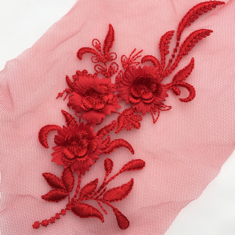 New Color Lace For 15 Color Three-dimensional Lace Flower Fashion Wear With Lace