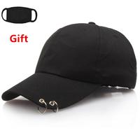 Mask as Gift BTS Bangtan Boys   baseball     cap   with two rings men women hip hop Rapper Bboy DJ Popper Locker Jazz dancer   cap   sun hat