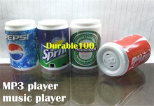 Cans Style Audio Mini MP3 Player plastic mp3 Retractable Cans speaker support Micro SD TF Card